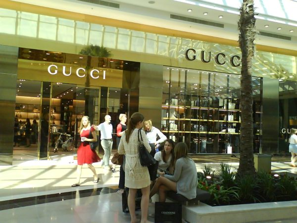 Picture of girls shopping at Gucci store