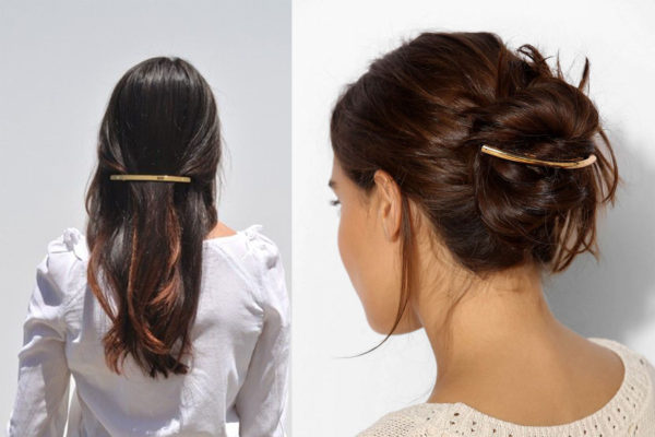 picture of gold hair clip.