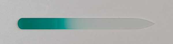 picture of a green glass nail file