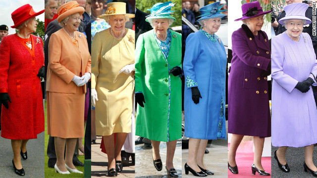 queen Elizabeth colourful