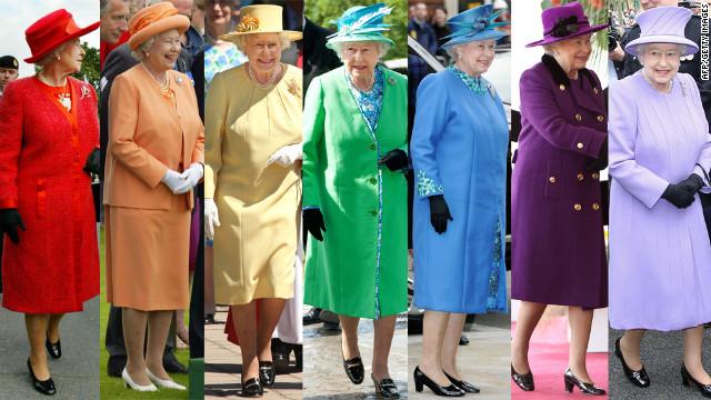 queen Elizabeth colourful