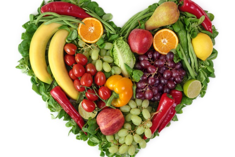 Healthy living fruits and veg
