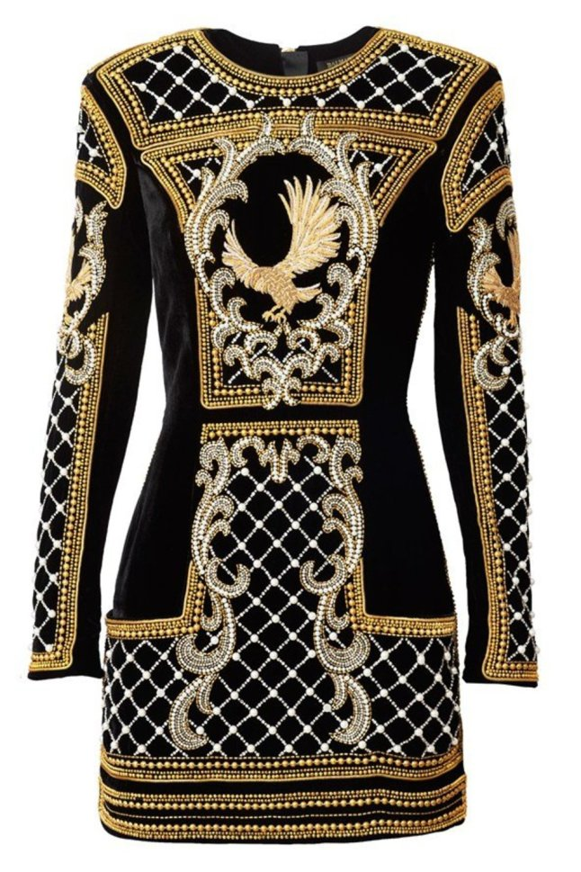 Gold and Black Beaded Dress (Image: stylist.co.uk)