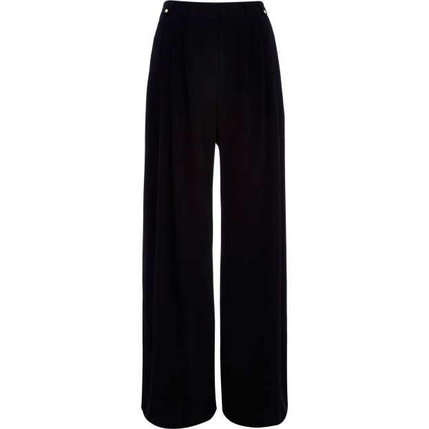 River Island black pleated trousers