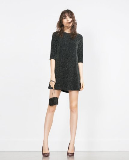 Zara Shimmer Thread Dress
