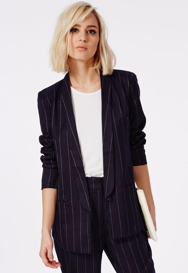 Missguided pinstripe Blazer (Image: missguided.com)