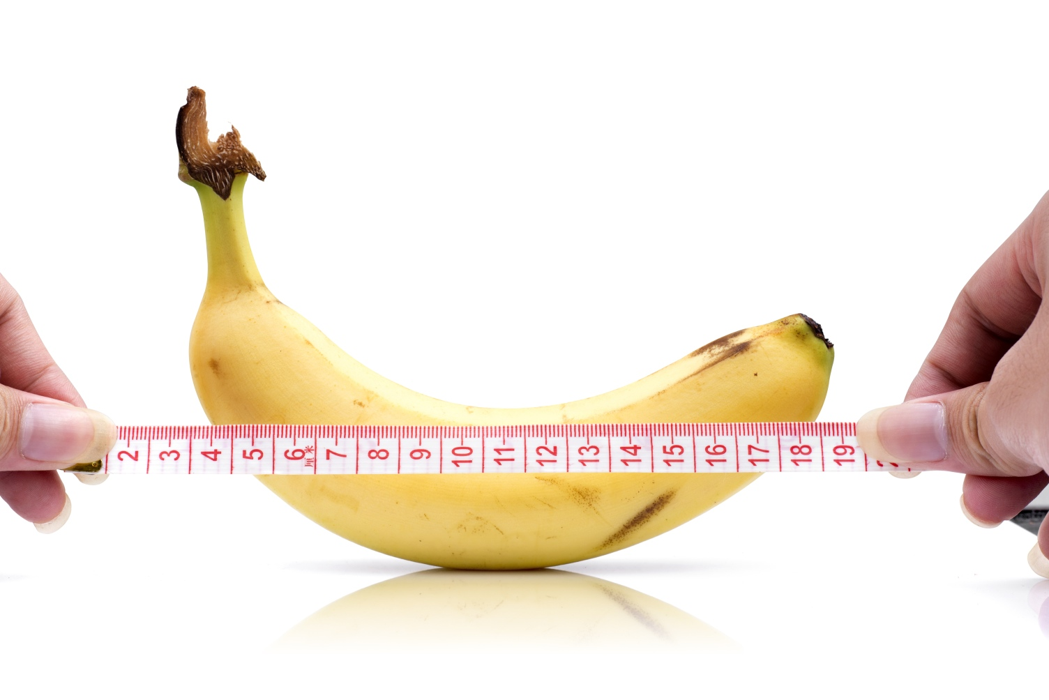 banana and tape measure