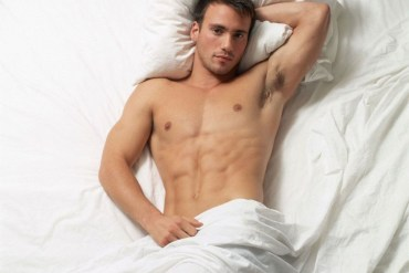 A man in bed