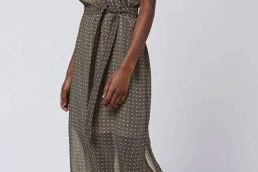 Topshop polka dress