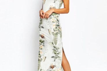 Warehouse tropical print dress