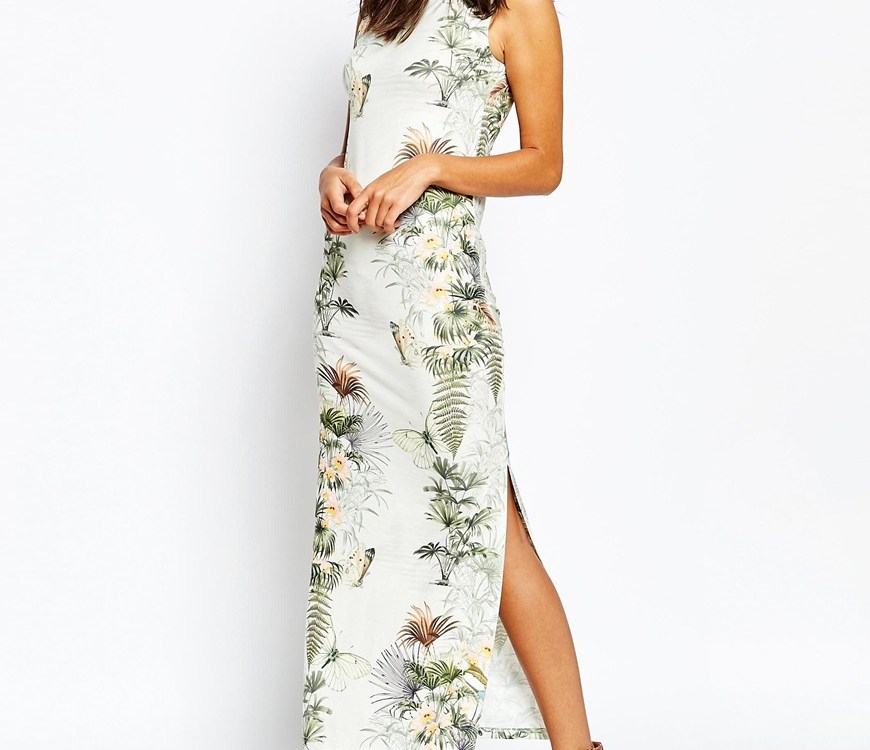 Warehouse tropical print dress