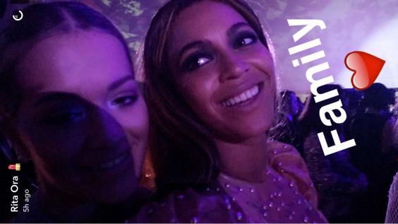 Image Source Rita Ora Snapchat