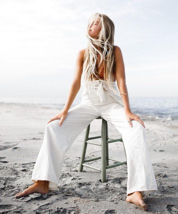 girl beach swimwear trouser
