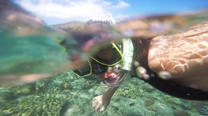 GoPro underwater diver
