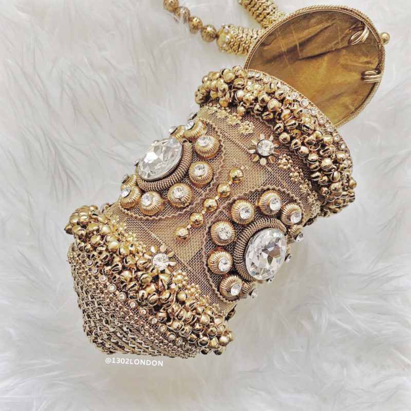 1302 London gold embellished purse