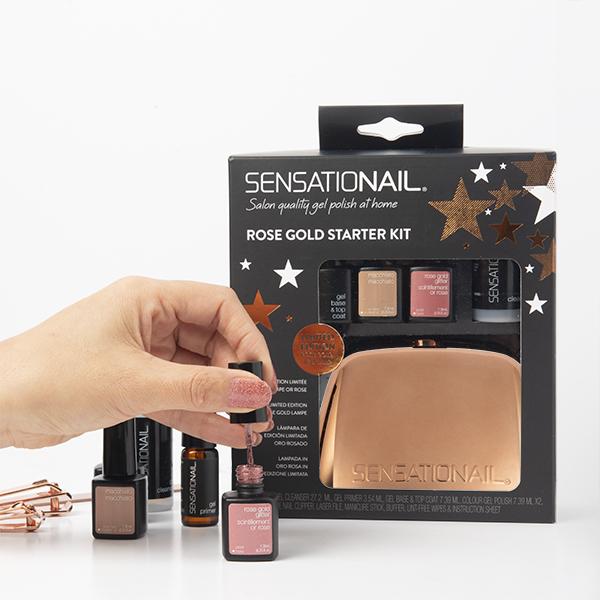 Sensationail Rose Gold Gel Polish Starter Kit gift