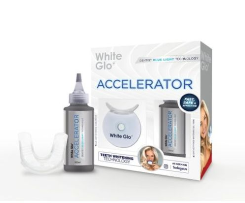 White Glo White Accelerator Blue Light Kit teeth