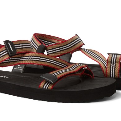 Burberry Striped Sandals, £320
