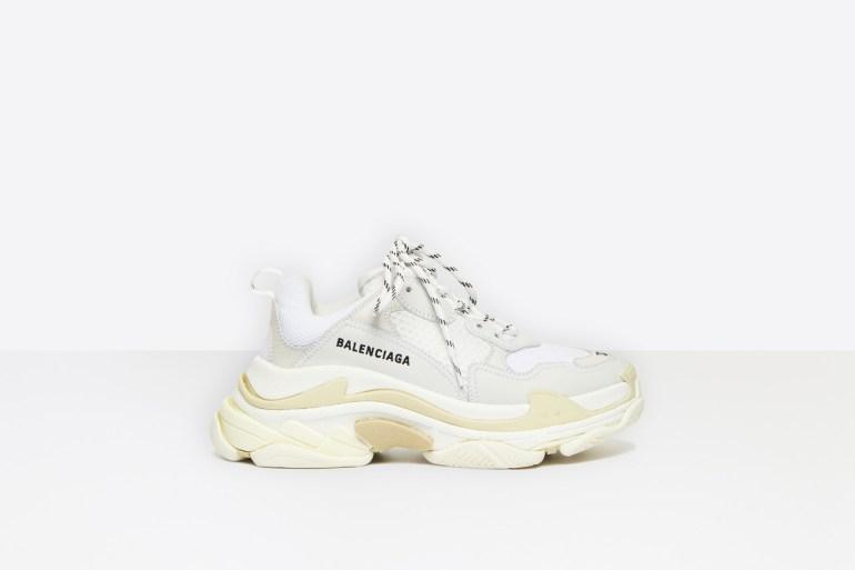 alt: white balenciaga trainers