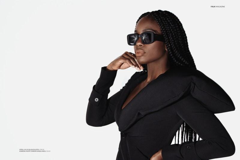 frukmagazine x Vanessa Vanderpuye black model actress