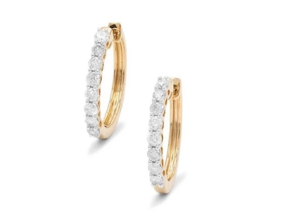 FRUKMGAZINE X 1:2CT DIAMOND 9K GOLD EARRINGS LIMITED EDITION