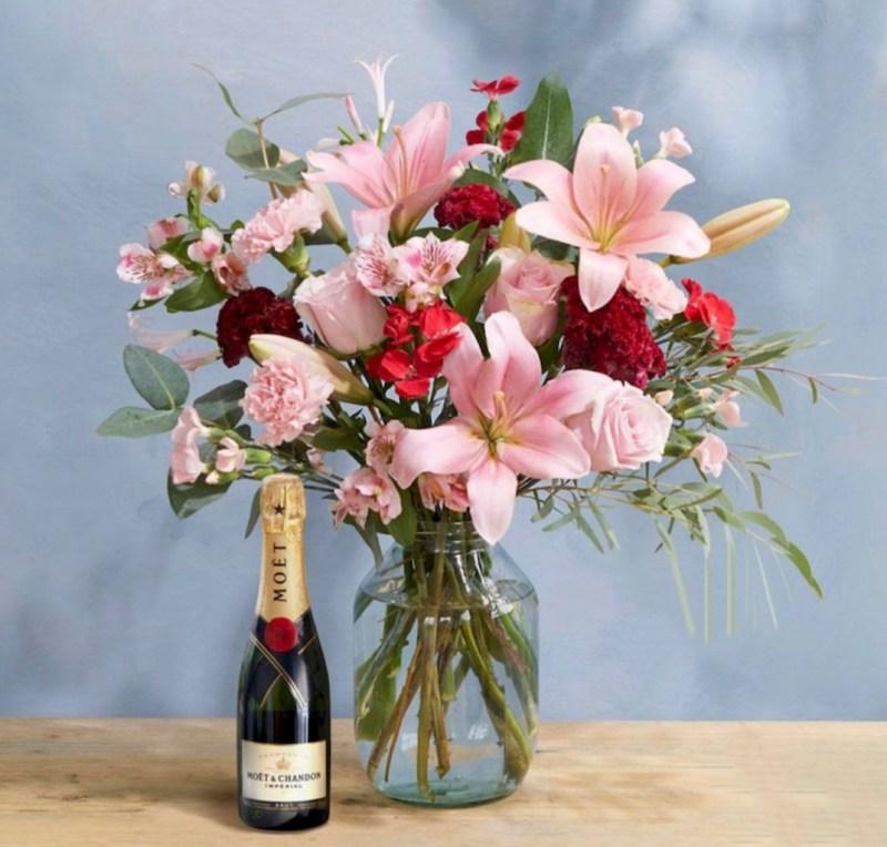 Bloomand Wild Ash Bouquet & Champagne, £75
