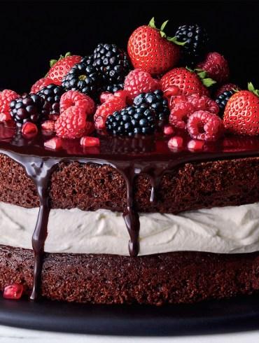 Chocolate and Cream Layer Cake