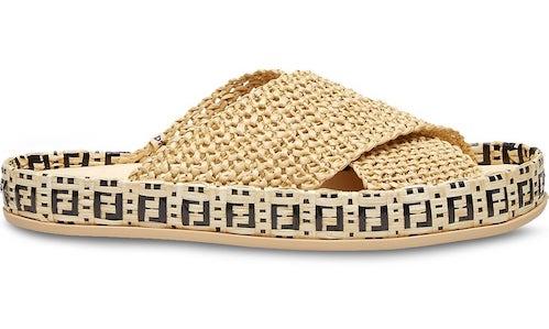Fendi woven sandals
