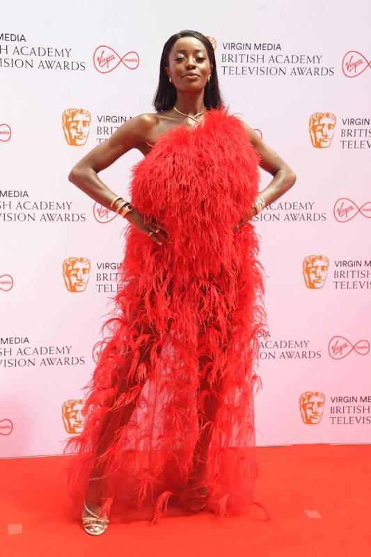 aj odudu BAFTA TV red carpet