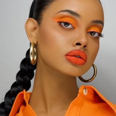 makeup trend orange lips