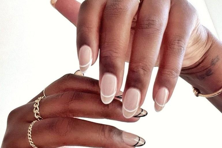 French tips nail art