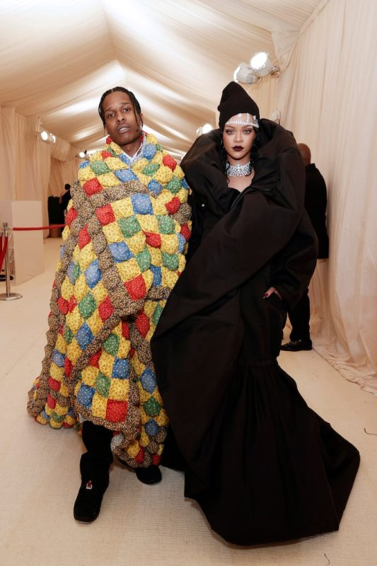 A$AP Rocky and Rihanna met gala 2021