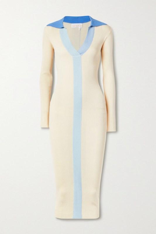 REMAIN BIRGER CHRISTENSEN Joy Ribbed-Knit Dress autumn