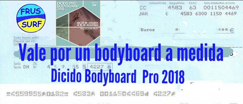 Campeonato Dícido Bodyboard Pro 2018 con FRUSSURF