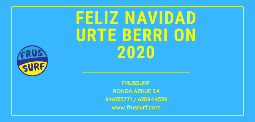 FrusSurf te desea Feliz Navidad eta Urte berri on 2020