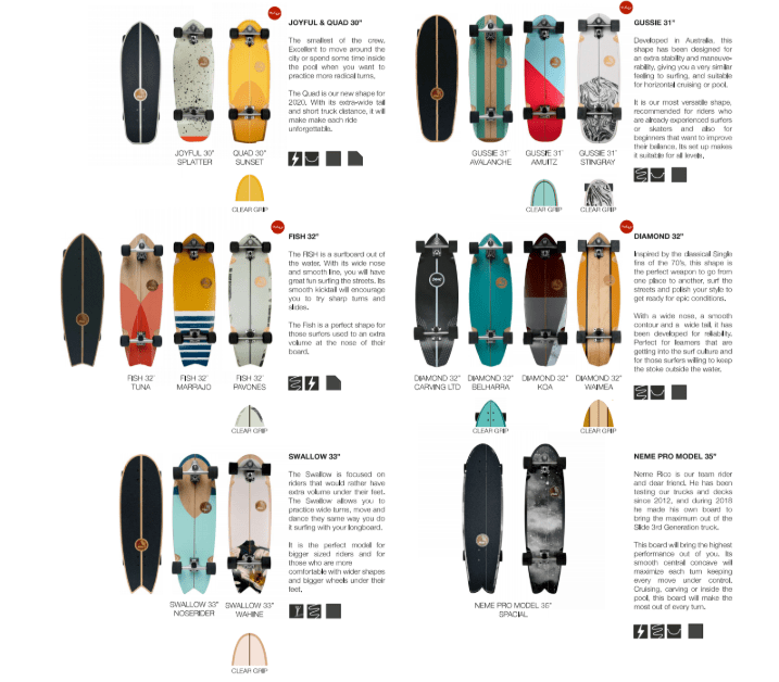 catalogo surfskates slide