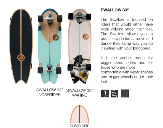 surfskate slide swallow 33