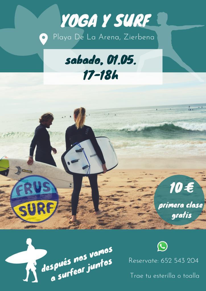 Yoga para surfistas en FrusSurf