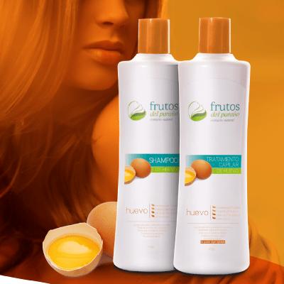 shampoo y tratamiento de Huevo, Frutos del Paraíso