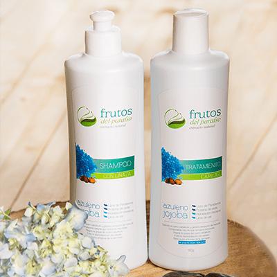 shampoo y tratamiento de Azuleno, Frutos del Paraíso