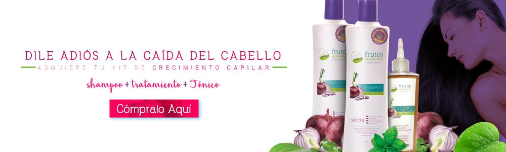 shampoo de cebolla para crecimiento capilar Frutos del Paraíso