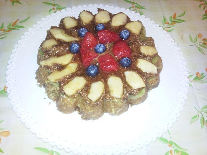 torta di mele crudista