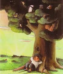 albero e bambino