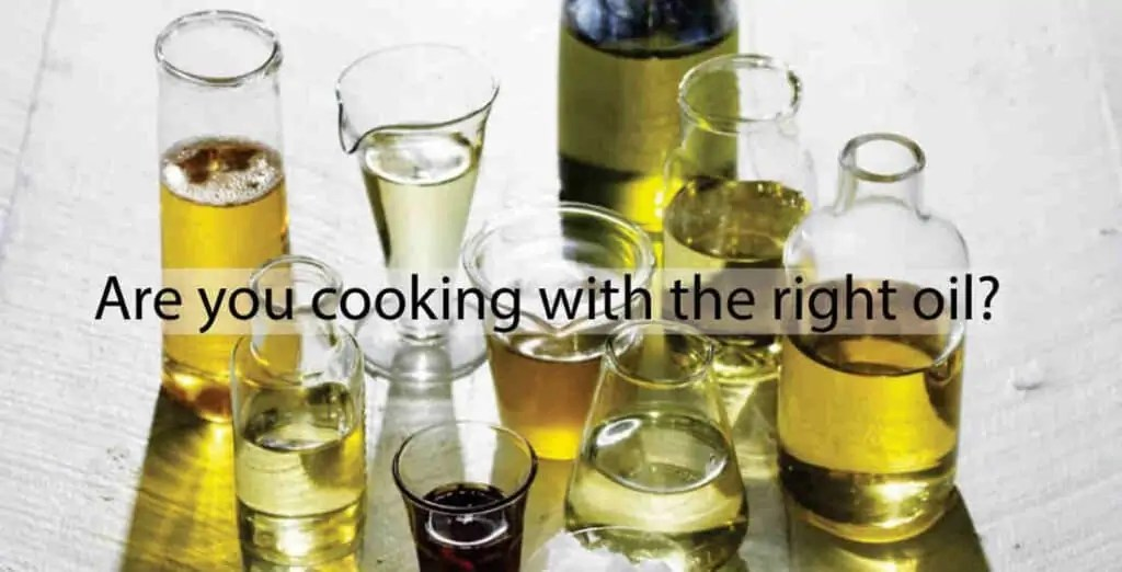 Can you cook food with the correct oil