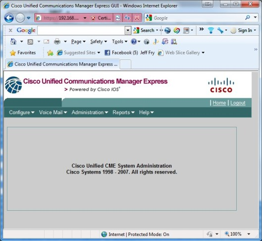 Cisco CallManager Express Setup for Home - Fryguy's Blog