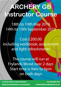 ArcheryGB Instructor Course