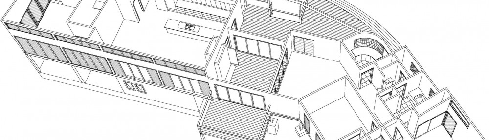 an isometric drawing of a house design
