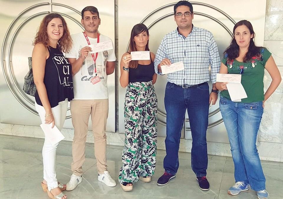 FS-USO ANDALUCÍA ENTREGA LOS CHEQUES DE LA CRS