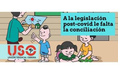 USO pide políticas sociales, familiares y de medidas de conciliación en la normativa post-covid