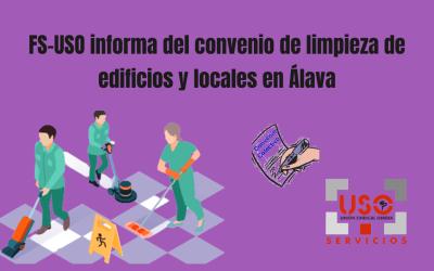 FS-LSB USO EUSKADI informa del convenio de limpieza de edificios y locales en Álava
